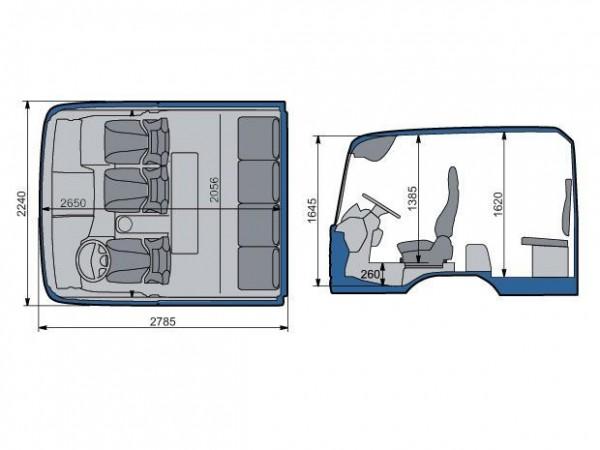 MAN TGM. Двойная кабина размеры
