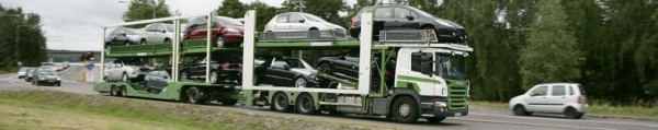 Scania. Перевозка автомобилей